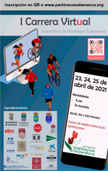 cartel carrera virtual parkinson marzo 2021